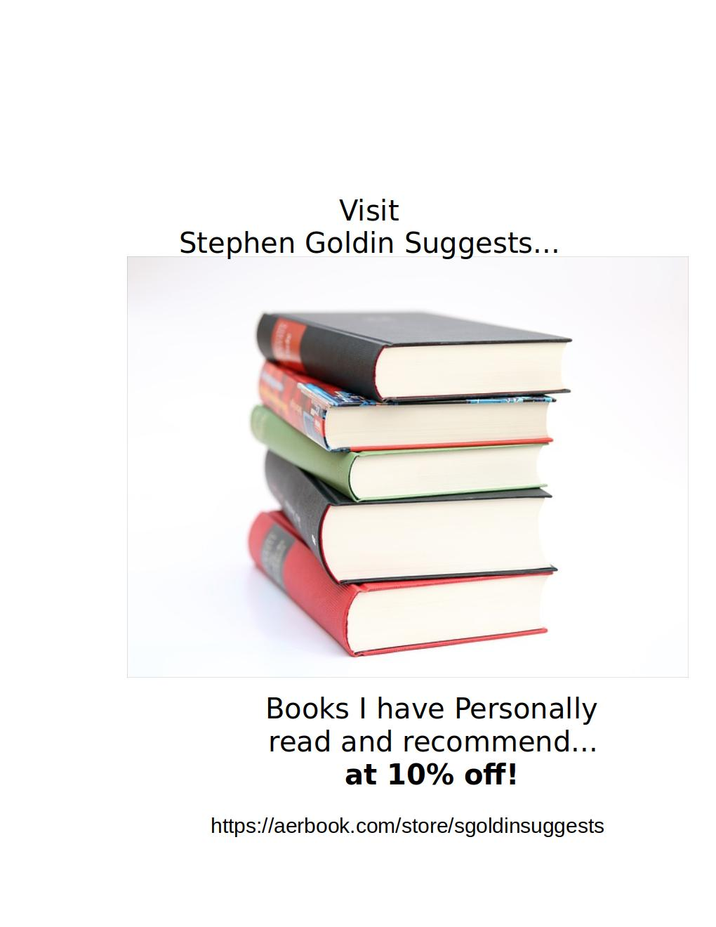 Stephen                             Goldin Suggests...